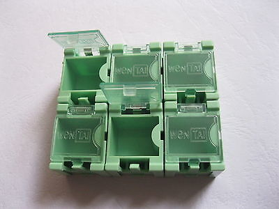 50 Pcs Diy Smd Smt Electronic Component Mini Box Green