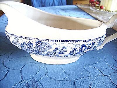 England Willow (MYOTT MEAKIN ENGLAND BLUE WILLOW Sauciere Sauce Boat Sossenschüssel)