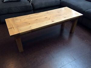 Sturdy wood coffee table -custom made