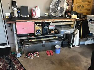 Heavy duty work tool bench on wheels Enfield Golden Plains Preview