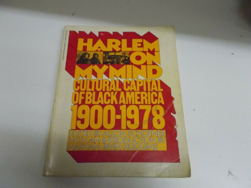 % HARLEM ON MY MIND Cultural Capital of Black America Orig 1968 soft cover book