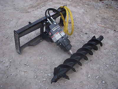 Bobcat Skid Steer Attachment - Danuser Ep 6 Hex Auger With 9 Bit - Ship 199