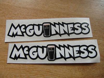 2x John Mcguinness decals - isle of man races - 150mm x 28mm