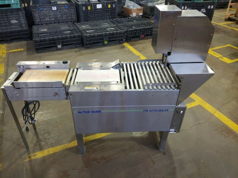Mettler Toledo Butcher Auto Labeler 706 + 317 Printer + 0623 Heated Belt Sealer