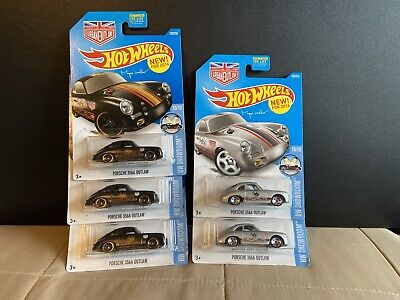 hot wheels porsche 356a outlaw Lot (5 Cars)