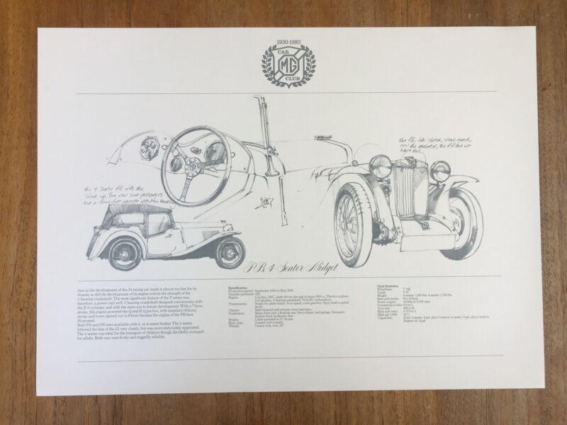 Mg Pb 4 Seater Midget Specs 1980 Ltd Ed James Dugdale Mg Car Club