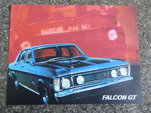 FORD 1969 XW GT SALES BROCHURE.  ''MINT''