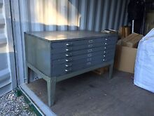 Solid Steel  vintage industrial plan /maps drawers cabinet Erina Gosford Area Preview