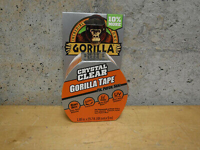 Gorilla Tape 29.7 Crystal Clear Adhesive Extra Thick Waterproof Repair Duct