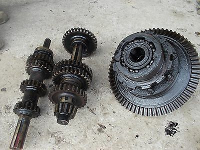 Farmall F20 Tractor Ih Transmission Matched Set Top Bottom Gears Shafts Pinion