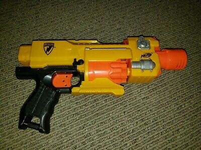 Nerf Barricade RV-10 Flywheel w Shoulder Stock Blaster Gun Hasbro Tested