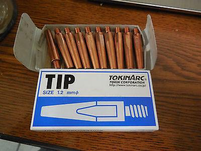 Contact Tips 1.2mm For Mig Welding 002003 Tokinarc 10 Genuine Tokin