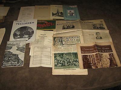 Huge Lot Of Vintage Paper Items Of All Kinds - Label Books, Menus, 1931 GE Book+
