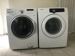 "Can deliver/27"" Like NEW SAMSUNG 27"" w laundry set"