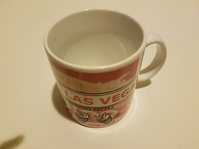 Vintage Starbucks Coffee 1998 Las Vegas City Collectable Mug Cup 20 oz Casino NV
