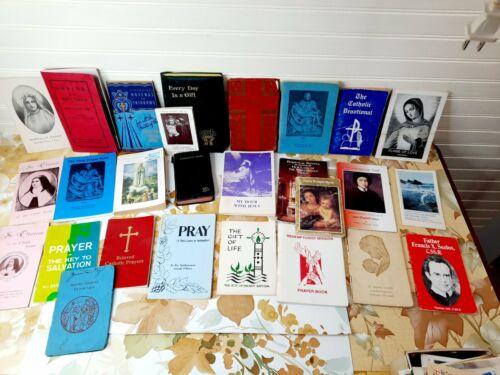 Lot of 27 Vintage Catholic Booklets Religious Books Novena Prayer Devotionals