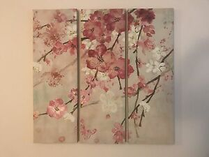Beautiful wall pictures. Canvas, set of 3.