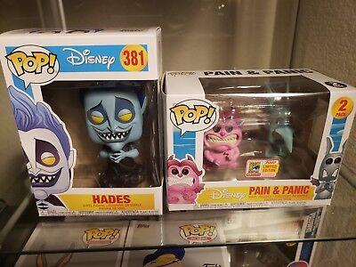 Disney Hercules Funko Pops Hades Common and Pain and Panic SDCC Exclusive  (Pain And Panic Hades)