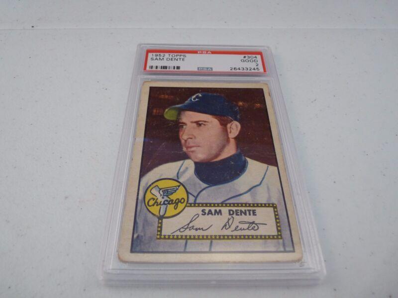 Sam Dente 1952 Topps #304 Baseball Card PSA Graded Slabbed Good 2