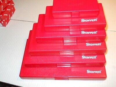 Starrett Micrometer Storage Cases 123456 Cases 1 Each  6-cases New