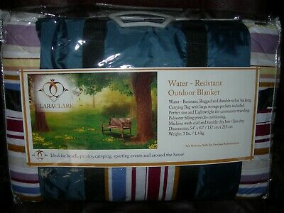 Outdoor-quilt (*NICE* NEW  Outdoor Quilt Picnic Blanket - Water Resistant 53 x 84 inches)