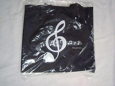 "MUSIC Tote Bag Nylon BLACK 14"" X 13"" Great MUSIC Gift Students Brand  NEW"
