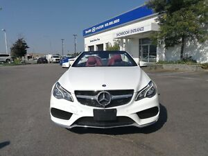 2014 Mercedes-Benz E-Class 2DR CABRIO E350, Red Leather, Navigat