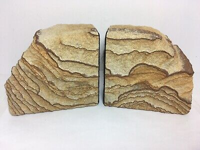 """Sandstone Bookends 5"""" Southwest Home Decor Office Library for sale  Shipping to Canada"""