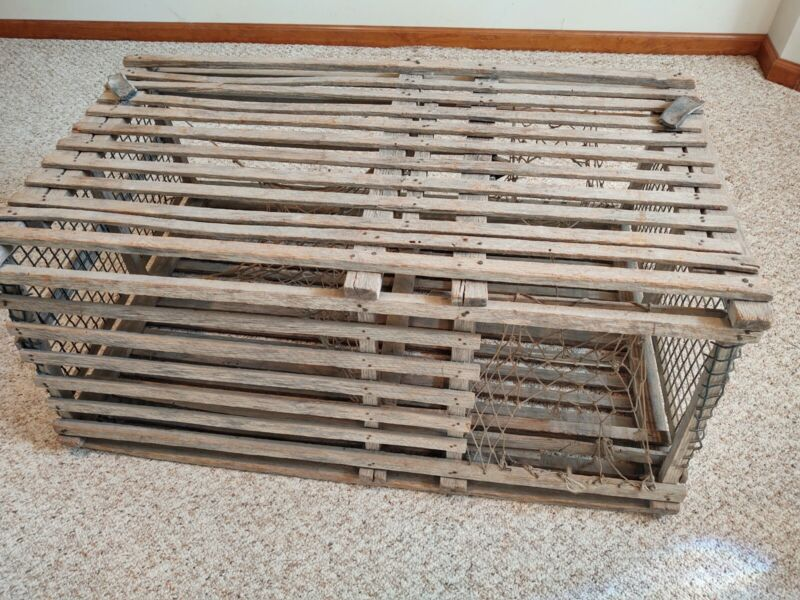 Authentic New England Wooden Lobster Traps