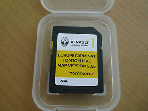 carte sd gps tomtom europe renault. Black Bedroom Furniture Sets. Home Design Ideas