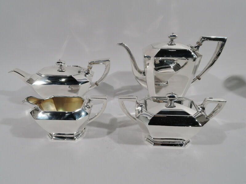 Gorham Fairfax Coffee & Tea Set - 04 - Art Deco - American Sterling Silver