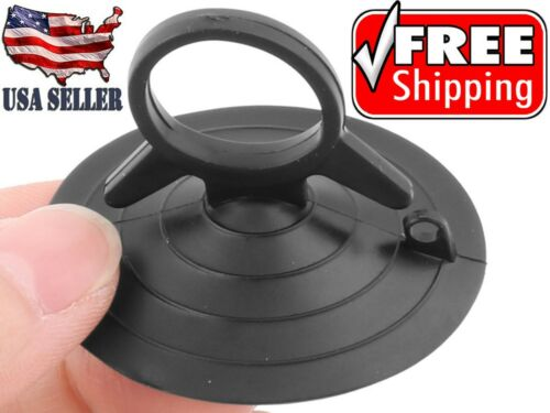 """2-20 Premium BEST Suction Cups Loop 5lb.Hold Black 1 3/4"""" Durable FREE SHIP USA"""