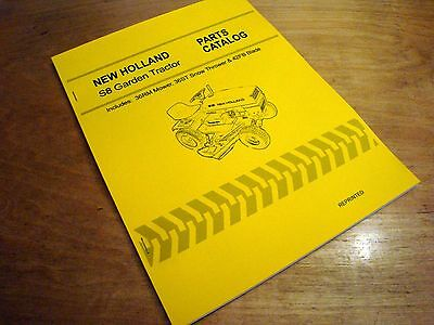 New Holland S8 Garden Tractor Parts Catalog Manual Nh 36rm 36st 42fb