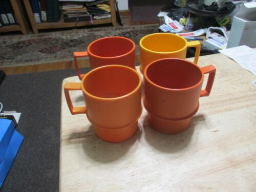 Vintage Tupperware Coffee Cups set of 4 stackable