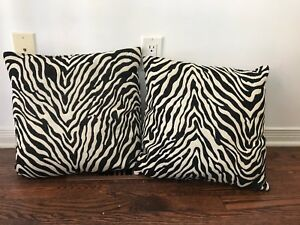 Two b&w pillows. Moving and downsizing. $10 for both