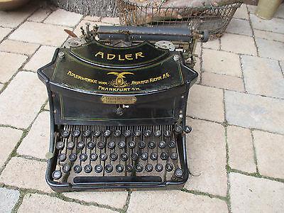 alte Adler Schreibmaschine Modell Nr. 15 von ca. 1910 tolle Deko