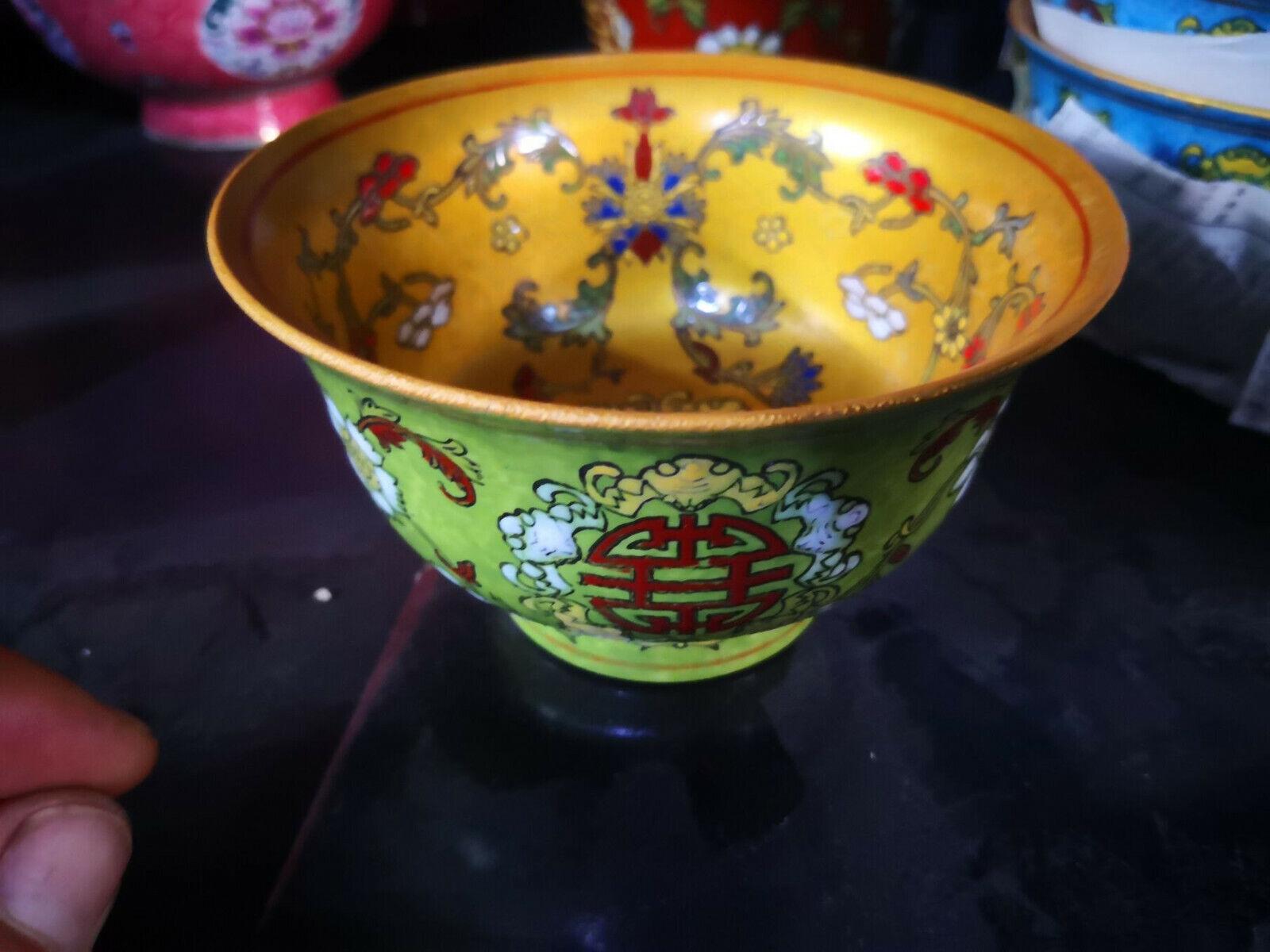 Chinese old porcelainThe republic of China bowl Powder enamel porcelain bowl 3