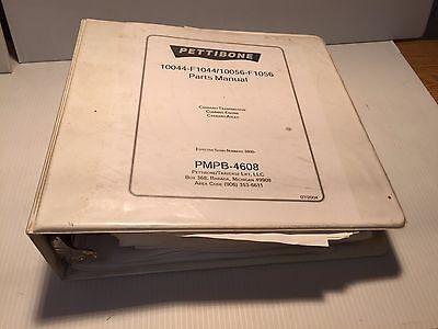 Pettibone 10044f-104410056f-1056 Pmpb-4608 -parts Manual Carraro Trans Axle