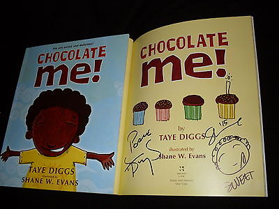 Taye Diggs   Shane Evans Signed Chocolate Me  1St Printing Softcover Kids Book