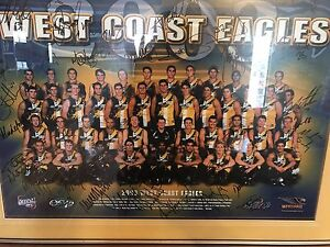 West coast team poster 2003 signed Joondalup Joondalup Area Preview