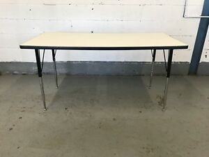 5ft Office Table - Steel Legs / Clean Surface - $50