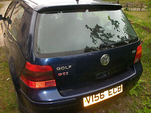 VW Golf Rear Back bumper mk4 GTi 1999 LB5N indigo blue -OTHER PARTS AVAILABLE-