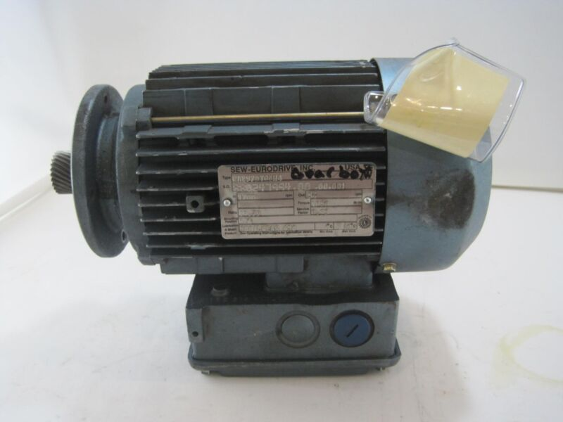 Sew-Eurodrive KAZ37DT80N4 Electric Motor Gearbox 1700 RPM 1850lbs Torque