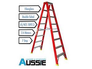Fibreglass Double Sided 2.4 m Ladder Smithfield Parramatta Area Preview