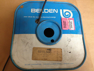 Belden Hook-up Wire 18awg 1c Rubber Black 25ft. Spool Not Included