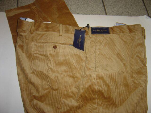 Big Mens Ralph Lauren Tan Classic Fit Corduroy Pants Size 56 X 32 ...