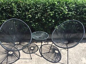 Outdoor chairs and side table Gymea Sutherland Area Preview