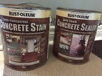 RUST-OLEUM charcoal grey concrete stain and sealer