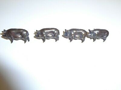Vintage Lot 4 Pig Push Pins