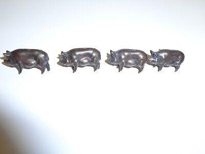 Vintage Lot 4 Pig Push Pins